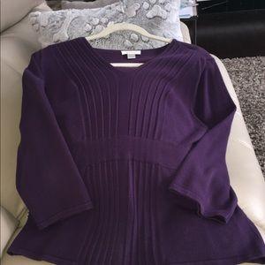 Women's purple sweater